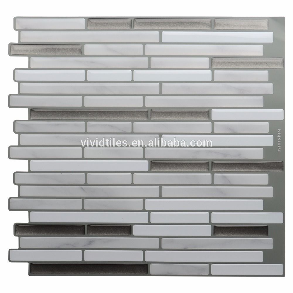 - Marble Grey Oblong Faux Stone Peel And Stick Decorative Vinyl