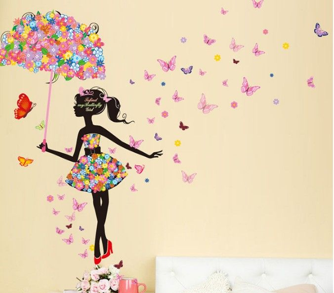 Rapture Pink Love Teenager Living Room Bedroom Tv Sofa Background Romantic Decorative Removable Wall Sticker Home & Garden