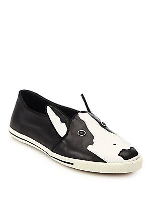 544b0c923ed0 Marc by Marc Jacobs Neville Dog-Paneled Leather Skate Sneakers ...