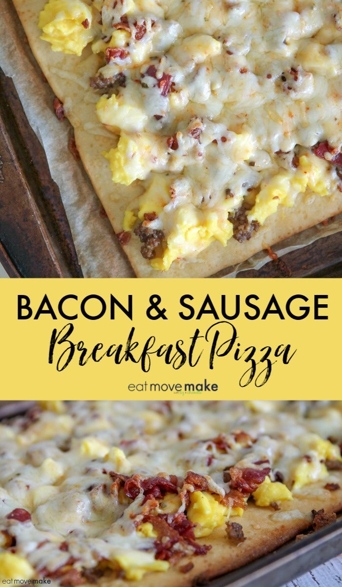 Bacon and Sausage Breakfast Pizza Bacon and Sausage Breakfast Pizza
