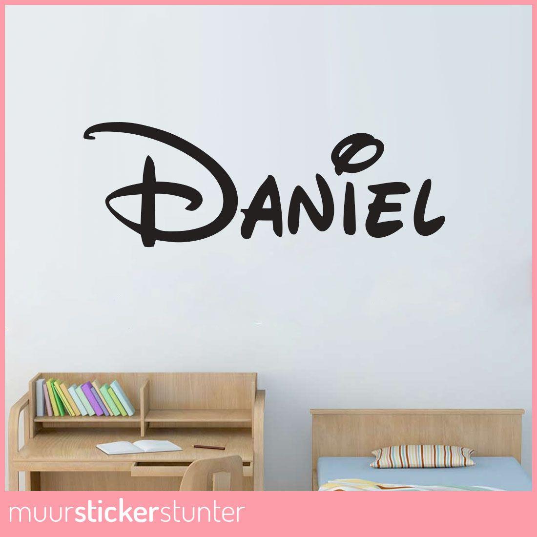 Naam Muursticker Babykamer.Walt Disney Lettertype Naam Muursticker Naam Muurstickers