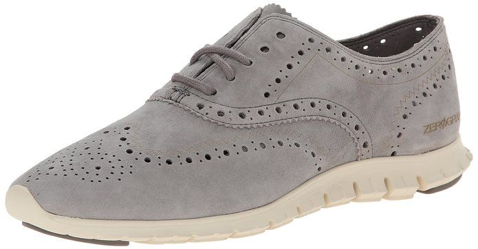 Cole Haan Women's Zerogrand Wing Ox Oxford, Ironstone Suede, 8 B US * You  can get more details by clicking on the image.