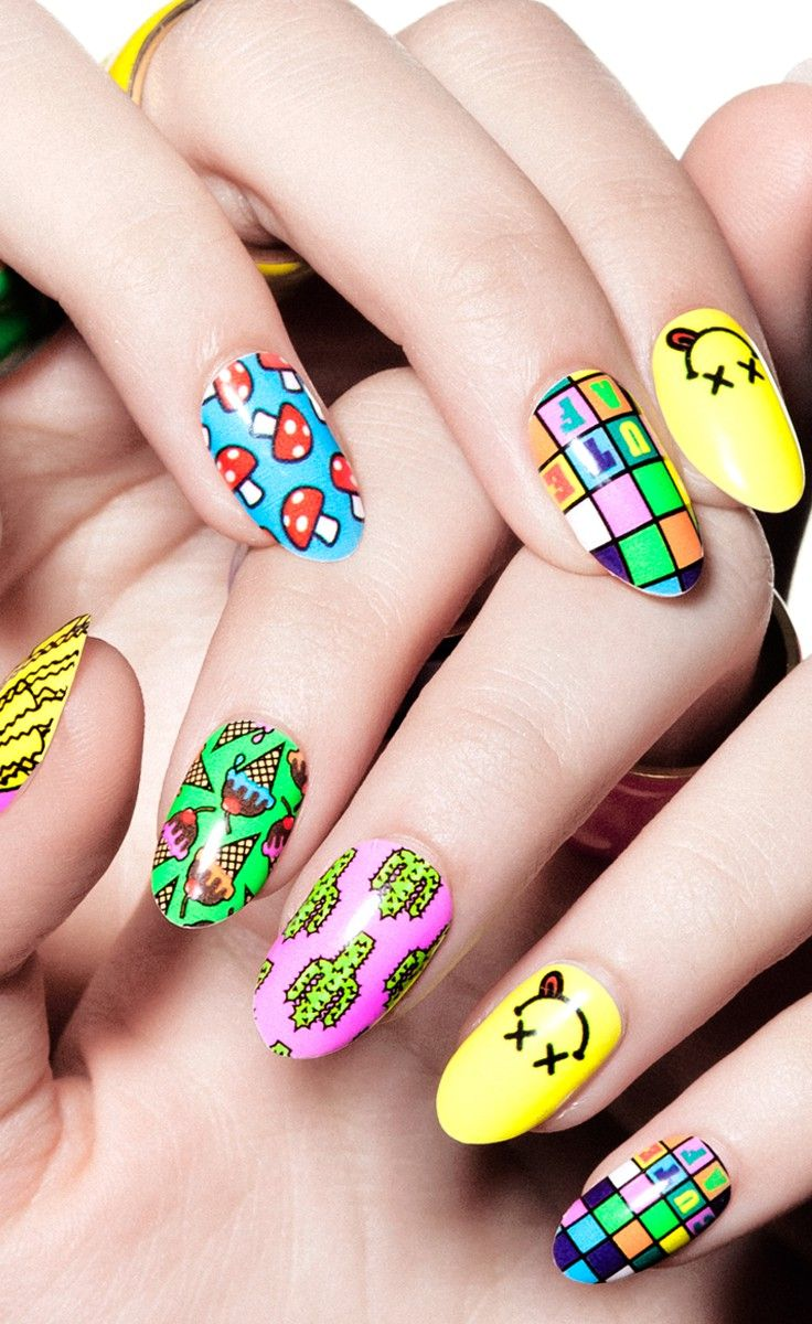 Cute A.F., nail wrap, Steph Stone, celebrity manicurist | nail art ...