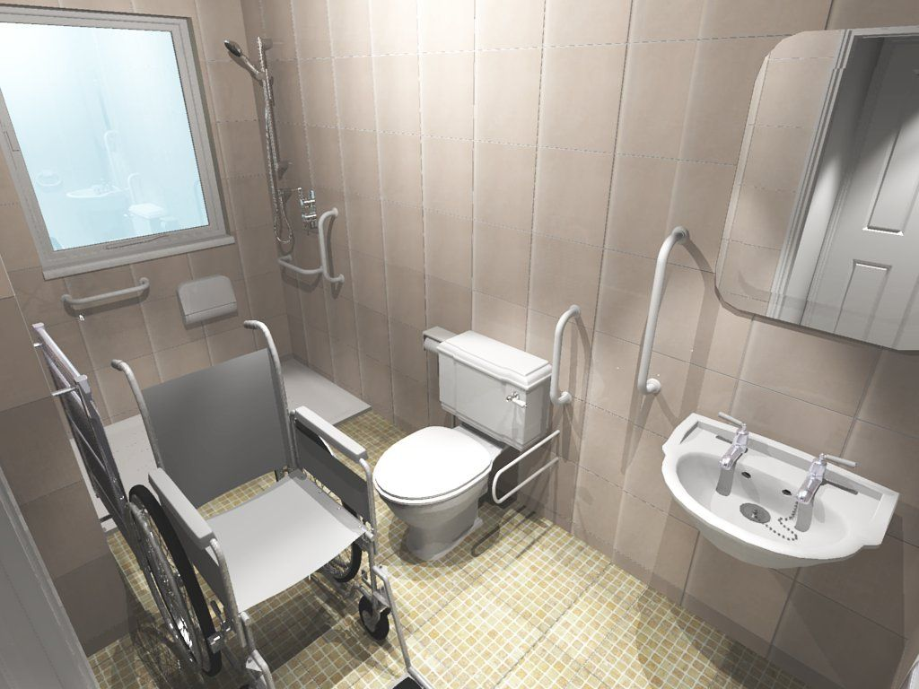 Exceptionnel Bathroom Handicap Accessible With Chair Picture   Pinned For Bar Placement  Ideas