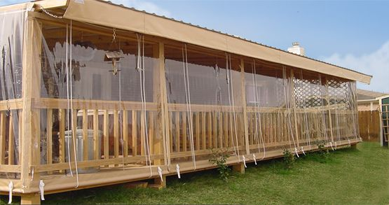 Clear Vinyl Curtains Roll Up Outdoor For Bars Restaurants Patios