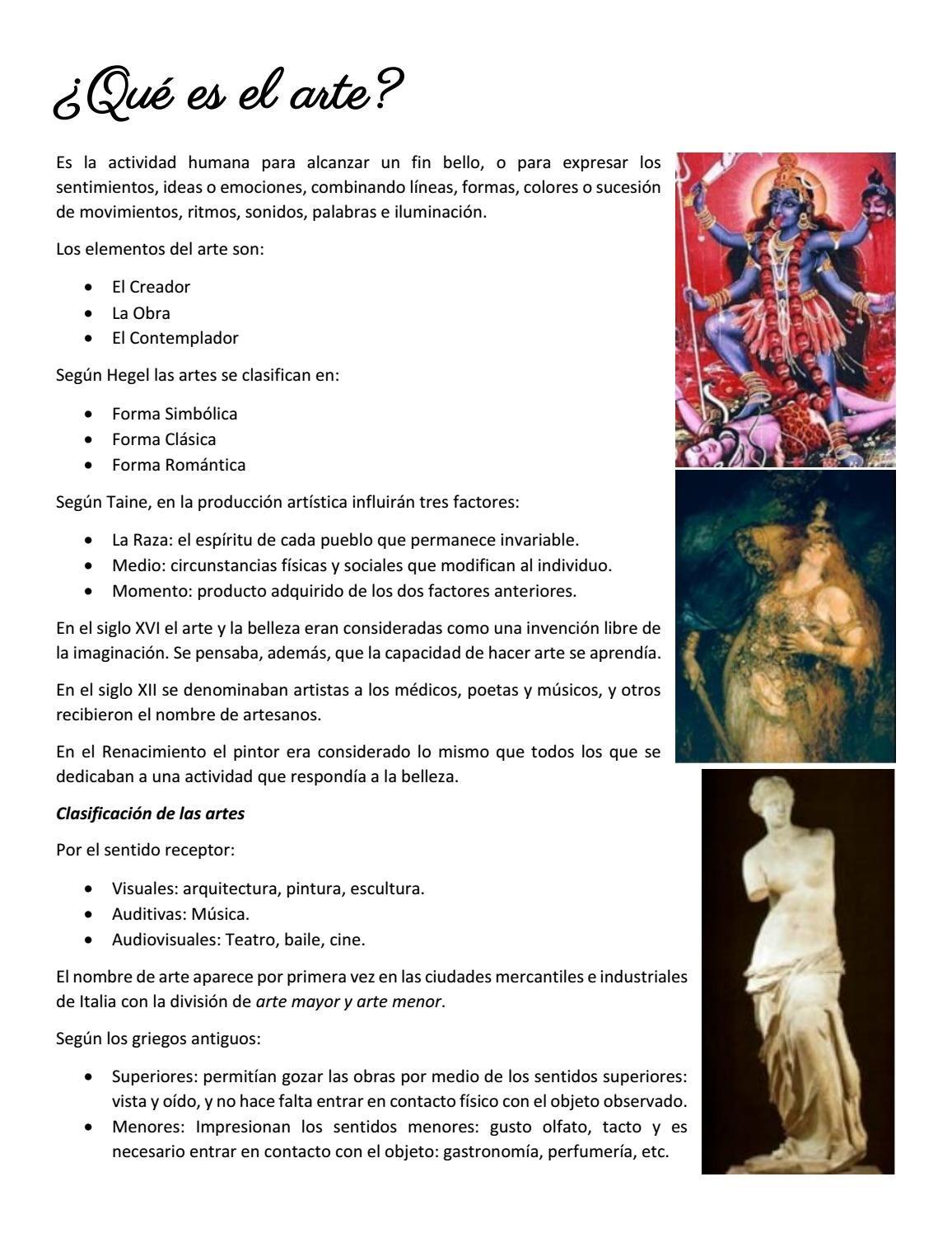 Resumen de Historia del Arte I en 2020 Historia del arte