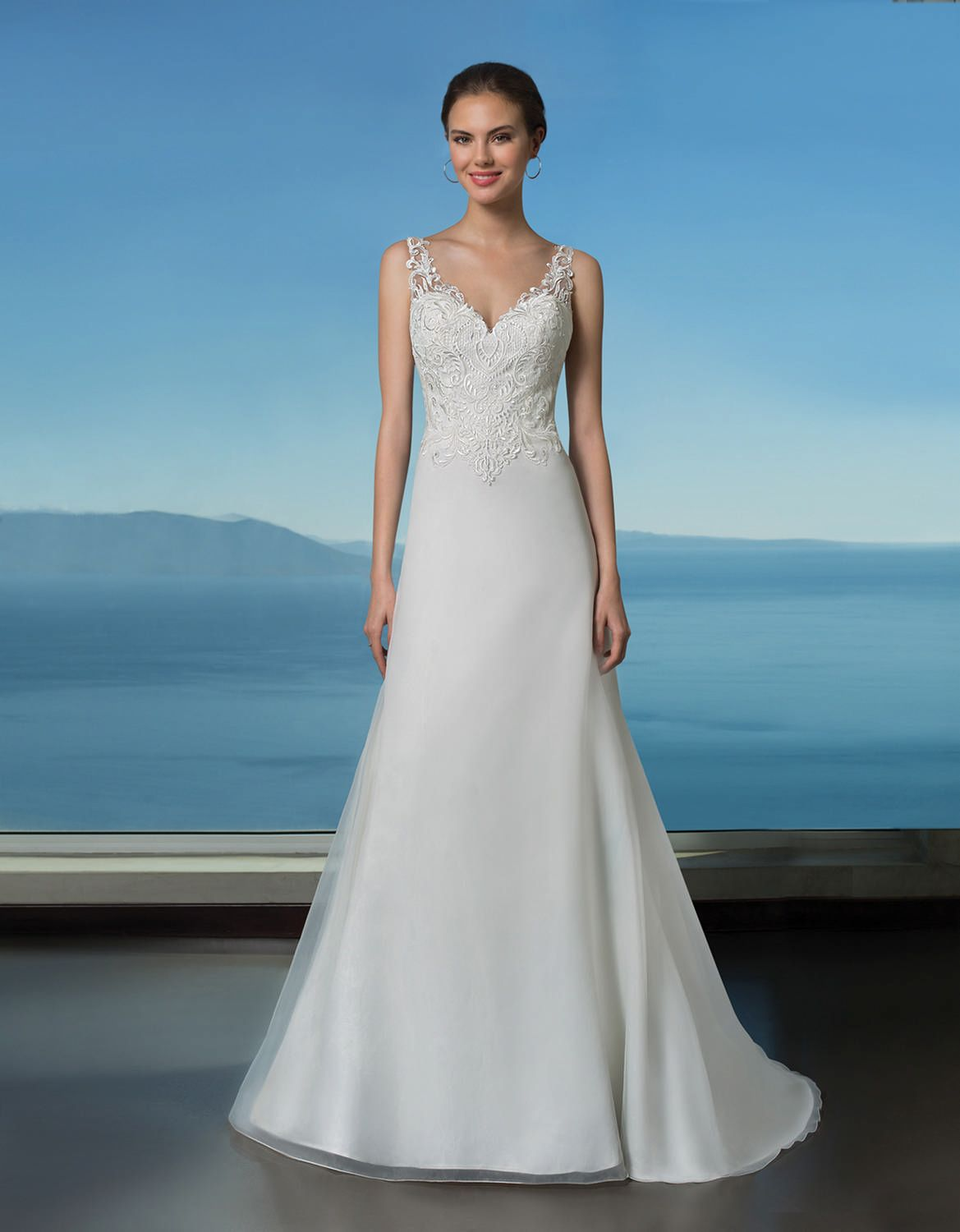 Oreasposa collection wedding dress style l luxurious organza