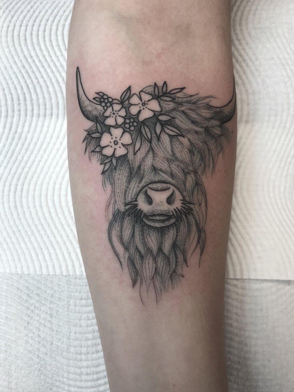 Pin By Kb On Tattoo Bull Tattoos Tattoos Cow Skull Tattoos