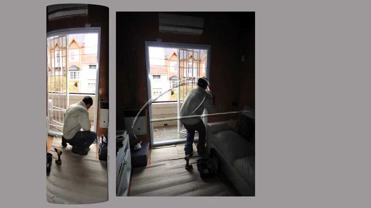 Cambio De Abertura De Madera Por Una Puerta Balc N De Aluminio  ~ Cambiar Cristal Ventana Aluminio
