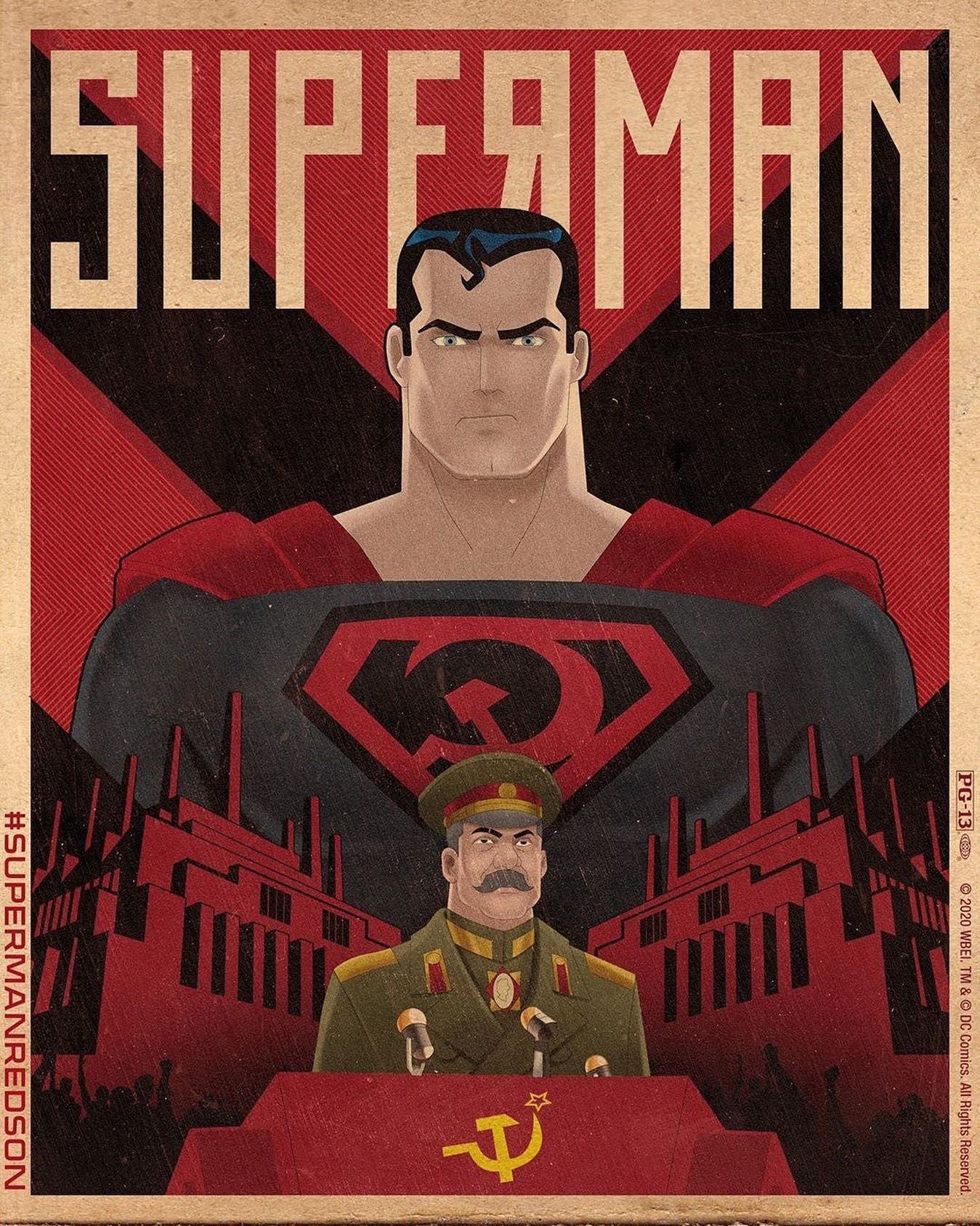 Soviet Superman and Stalin in Red Son Comic Book ⠀ Redson