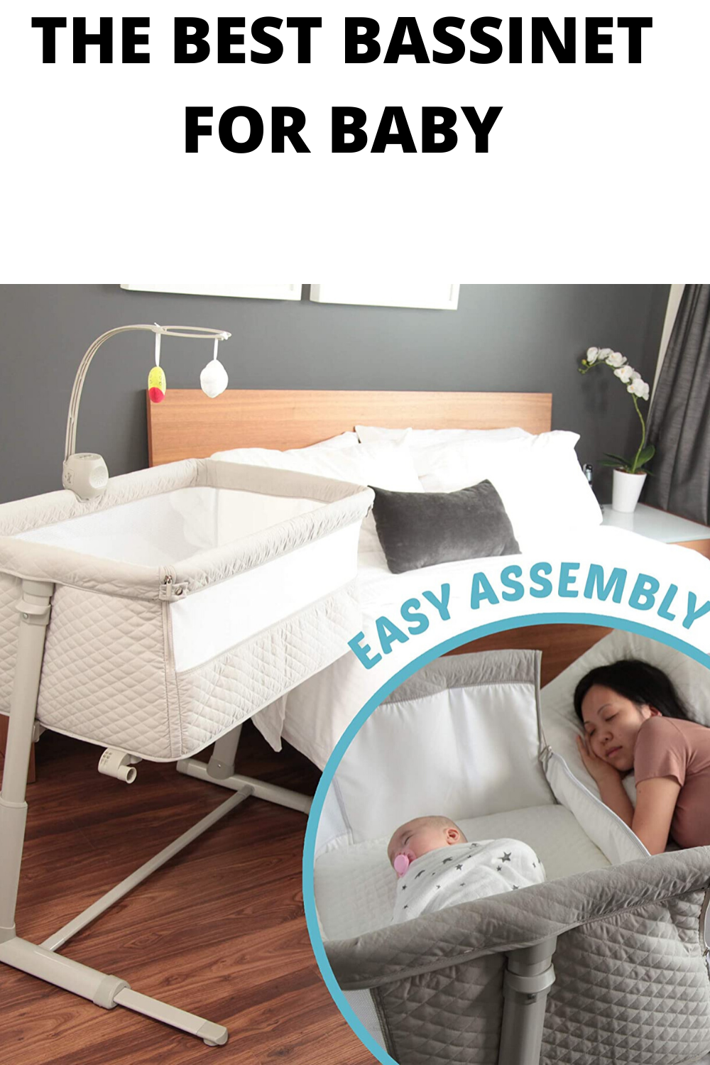 Baby Bassinets Adjustable And Easy To Assemble Bassinet For Baby In 2020 Best Bassinet Bassinet Baby Bedside Sleeper