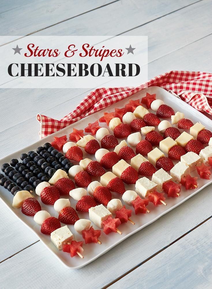 American Flag Cheeseboard Easy Entertaining Fourth Of