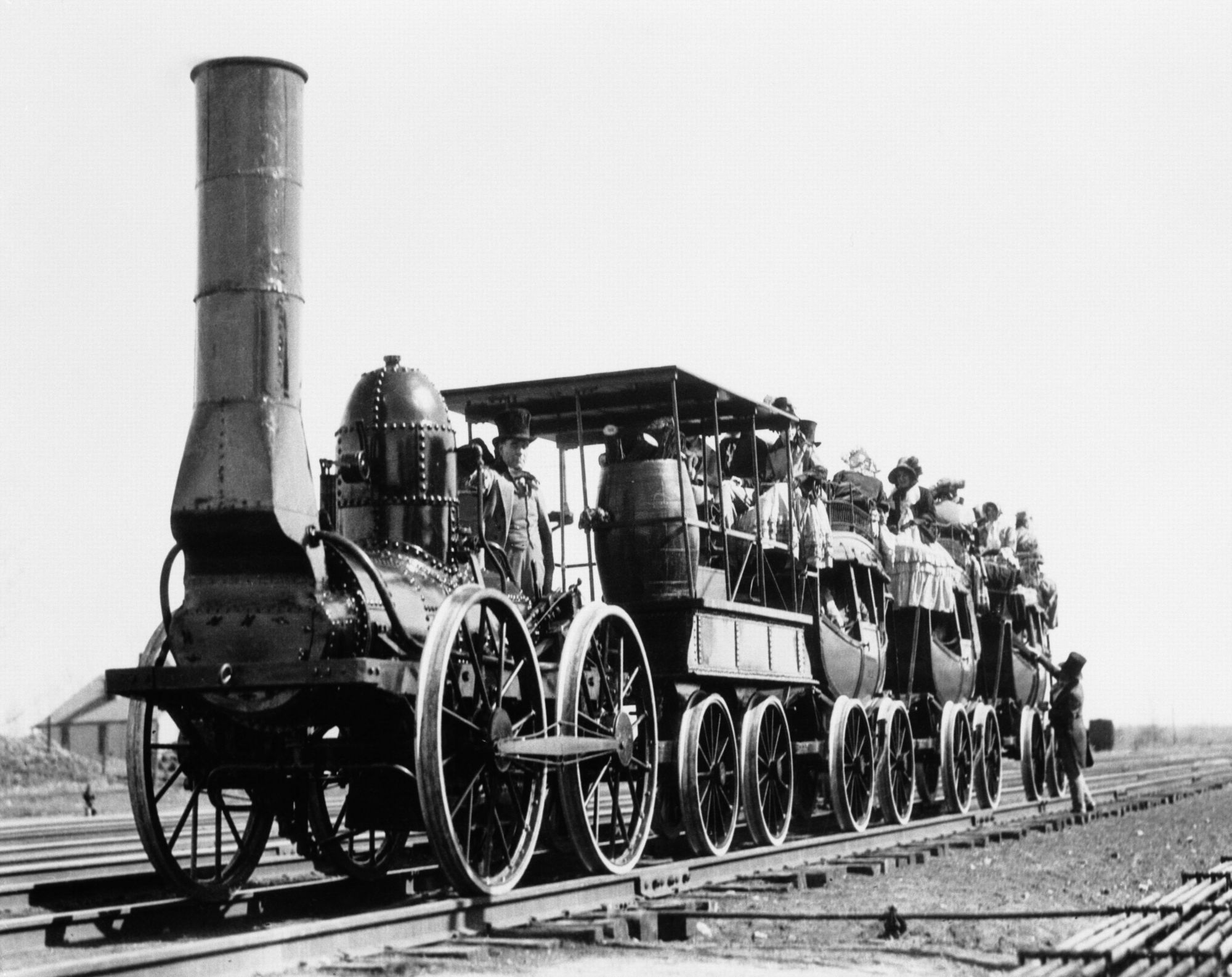 Steam Train Fashioned Locomotive