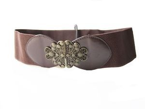 Forever 21 Small/Medium Brown Metal Clip Lock Belt NWT. $11.99