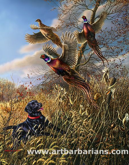Tirages d'art de la faune ainsi que des peintures originales avec une large sélection de ArtBarbarians.com situé dans le Minnesota.