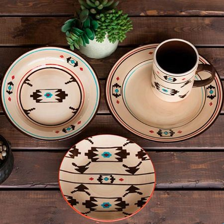 Delectably-Yours.com 16 Pc Aretisia Southwestern Dinnerware Set by HiEnd Accents & Delectably-Yours.com 16 Pc Aretisia Southwestern Dinnerware Set by ...
