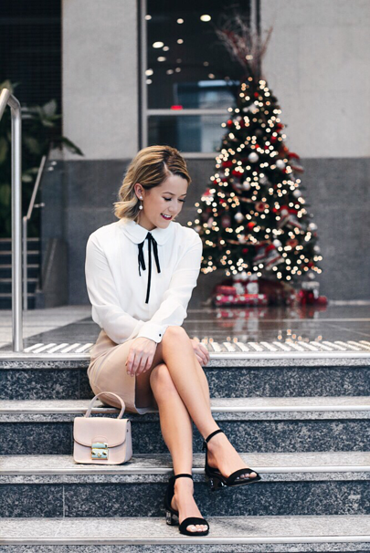 """Been a little inspired to start getting holiday ready with all of the fun decor around the city these days! Being self employed I sadly don't have an office Christmas party to go to this year but have seriously considered taking a day off to celebrate with my """"employees"""" aka Oggy & Henry 🐱🐶 All my outfit details including these festive sandals today on the blog! >>> http://liketk.it/2pNJX @liketoknow.it #liketkit"""