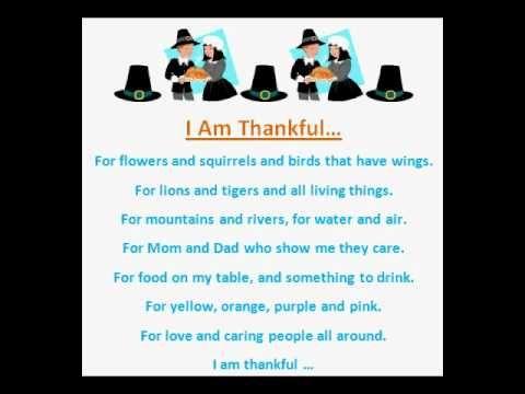 I Am Thankful (Thanksgiving Poem)