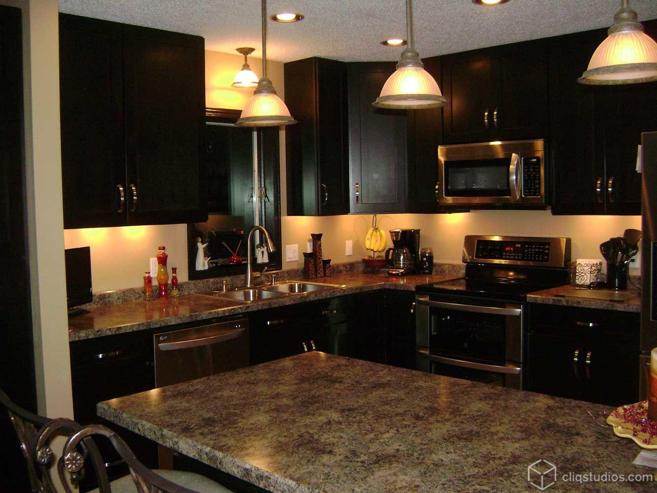 The Rich Birch Sable Dark Espresso Color On The Cliqstudioscom - Kitchens with espresso cabinets