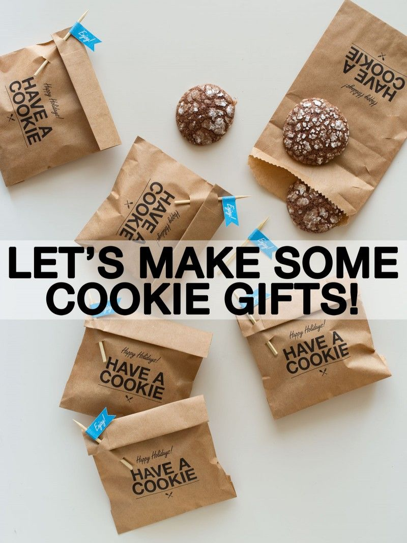 Let's Make Some Cookie Gifts! Cookie wrapping ideas