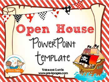 Pirate theme open house back to school powerpoint template a ready made pirate theme powerpoint template for your open house specifically for preschool pre toneelgroepblik Gallery