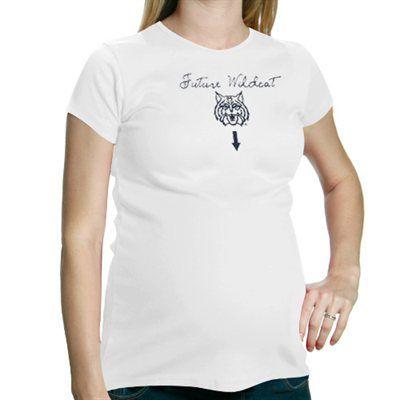 5175af10d37bb My U Arizona Wildcats Maternity Future Wildcat T-Shirt - White | We ...