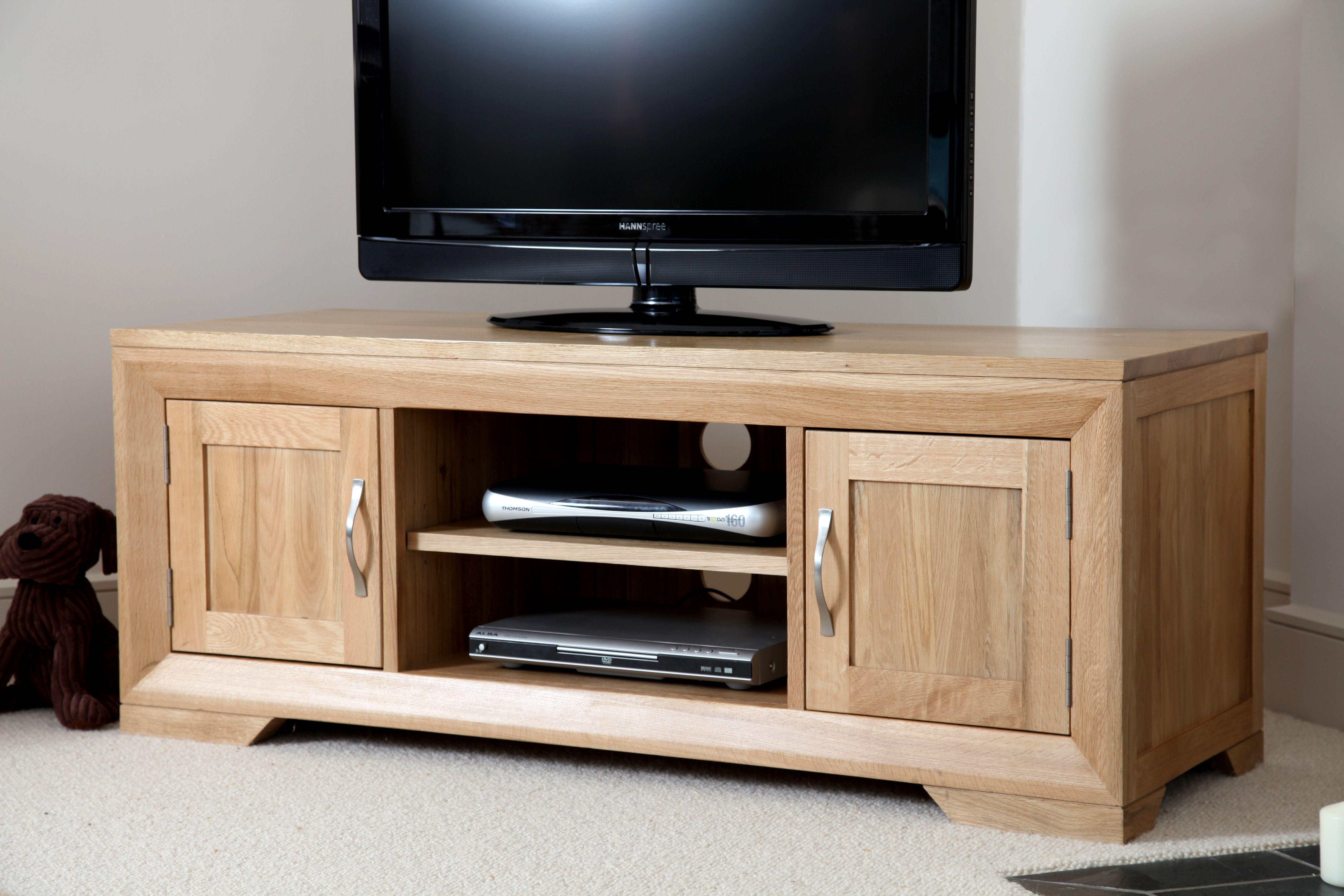 Wood Tv Console Bevel Solid Oak Oak Furnitureland Oak Furniture Land Furniture Wood Tv Console