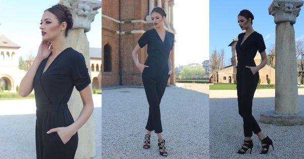 Black maxi jumpsuit - shop: www.theitem.co