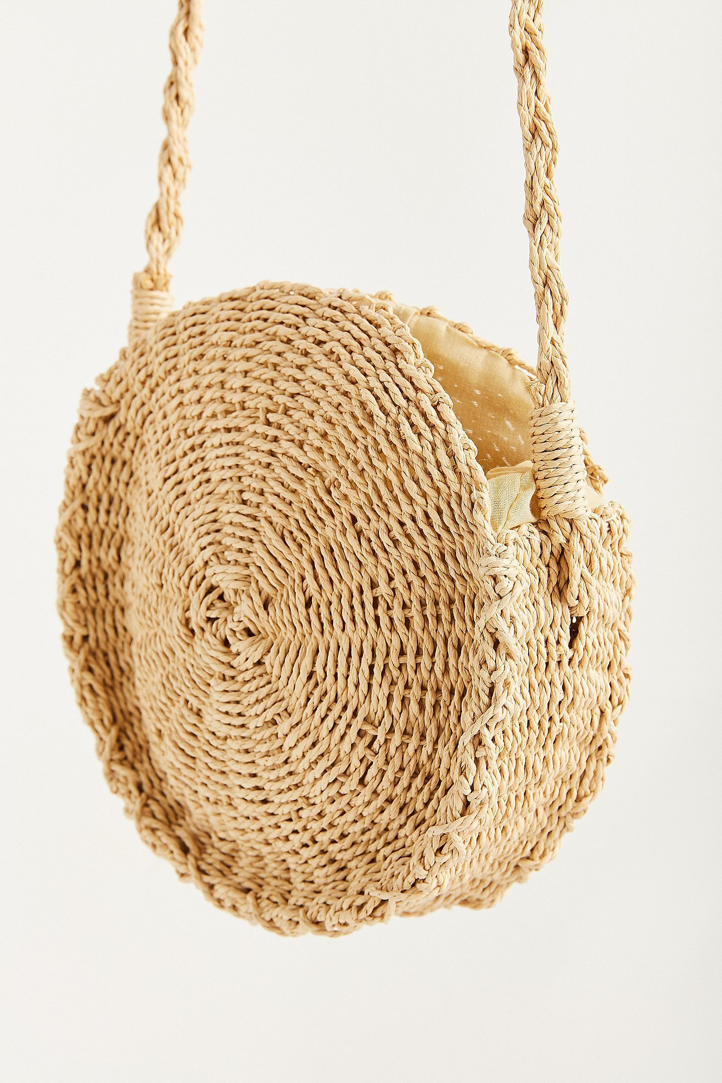 Slide View  3  Small Circle Straw Round Crossbody Bag 0162b74395740