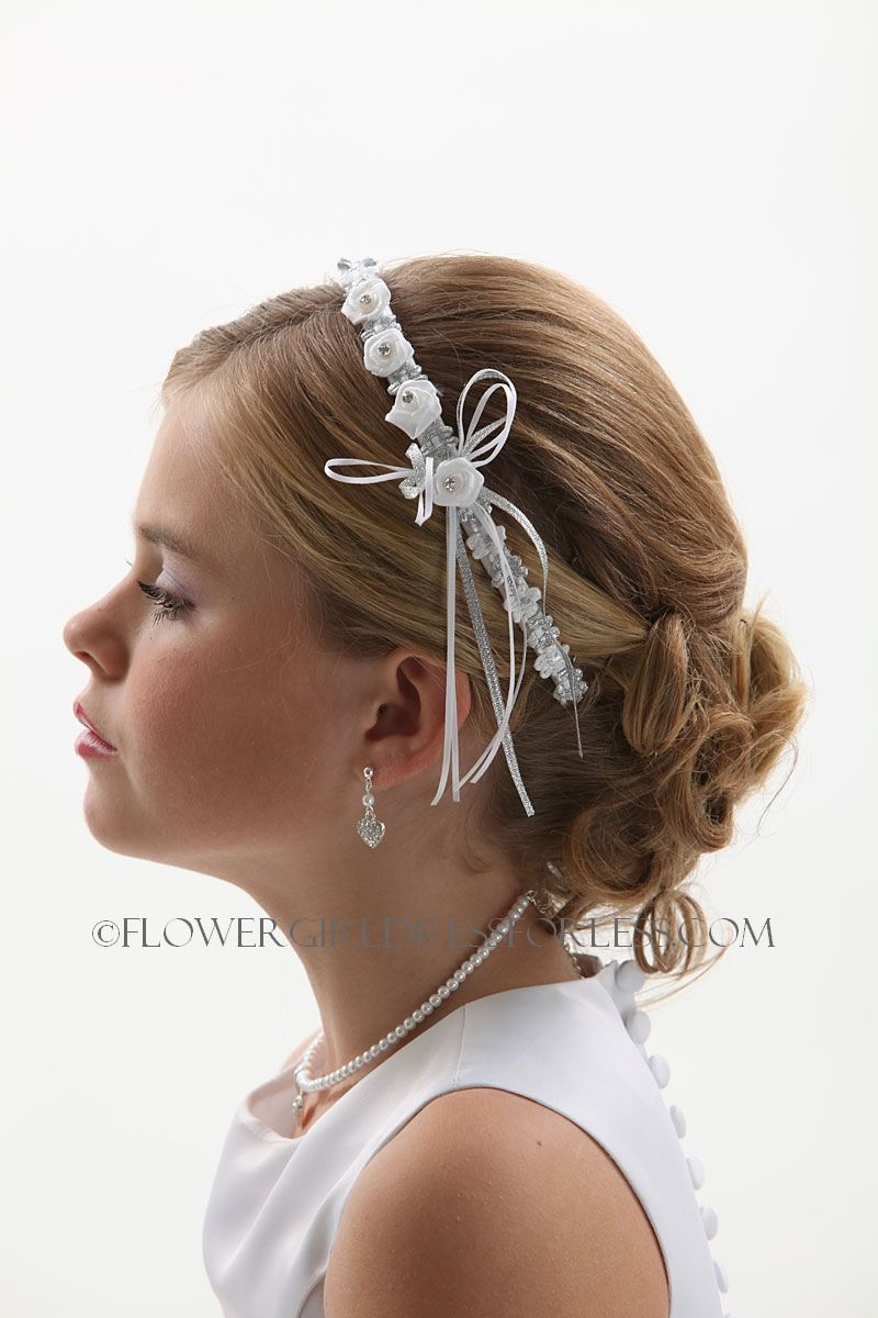 communion hair vine - floral and beaded hair wire for first