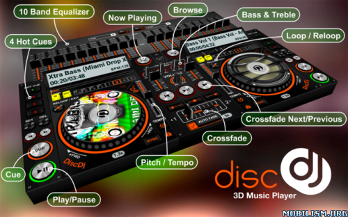 DiscDj 3D Music Player Beta v3 000s [Ad-Free]Requirements