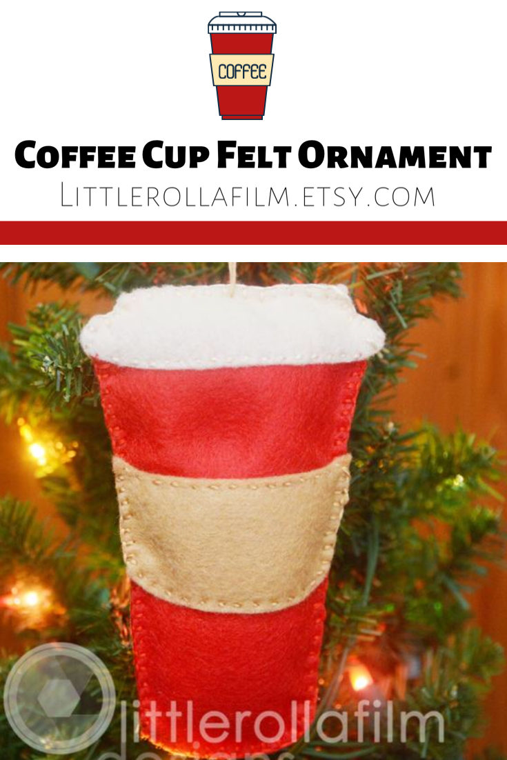 Coffee Cup Red Felt Ornament Red Travel Coffee Cup Ornament Coffee Ornament Gift For Her Gift For Him Coffee Decor Christmas Ornament In 2020 Felt Ornaments Coffee Ornaments To Go Coffee Cups