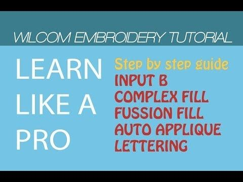 Wilcom Embroidery Digitizing tutorial - Simple Technique [Step by