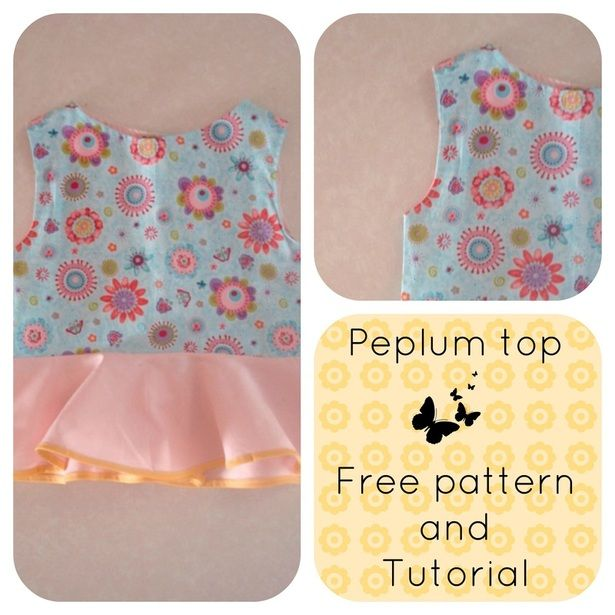 FREE SEWING PATTERN: The peplum top - On the Cutting Floor ...