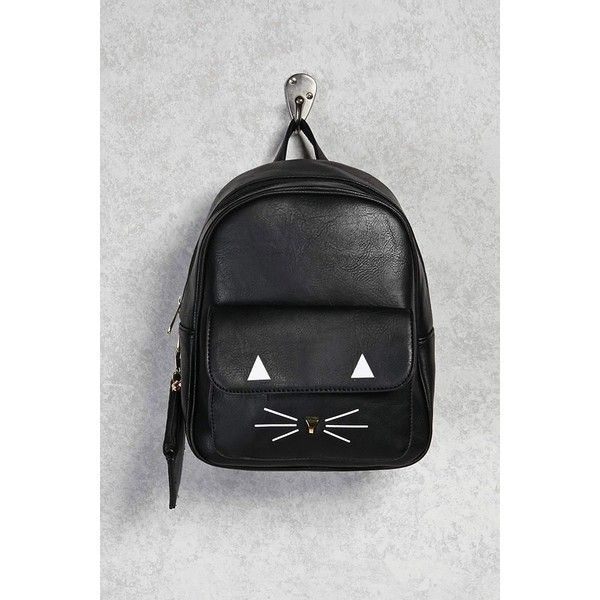 5cc846d02d1d Forever21 Cat Face Mini Backpack ( 25) ❤ liked on Polyvore featuring bags