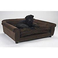Enchanted Home Pet Brown Ultra Plush Outlaw  Pet Sofa