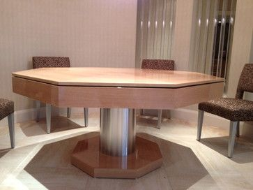 Poker / Dining Table By MITCHELL * Exclusive Billiard Designs *    Contemporary   Basement