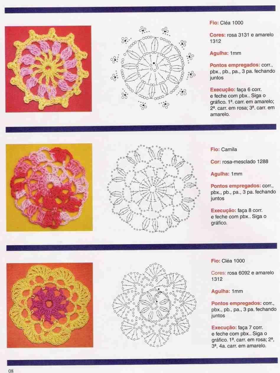 Flores Crochet Patrones - crochet : flor de 8 petalos. flor crochet ...