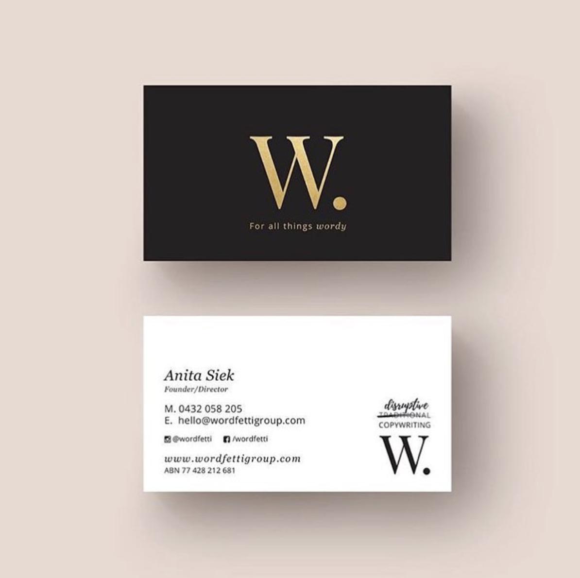 Wordfetti Business Card Branding   Wordfetti   Pinterest ...