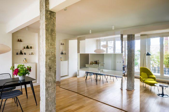 Béton ciré coulé Blanc Mat Cassis Pinterest - maison en beton coule
