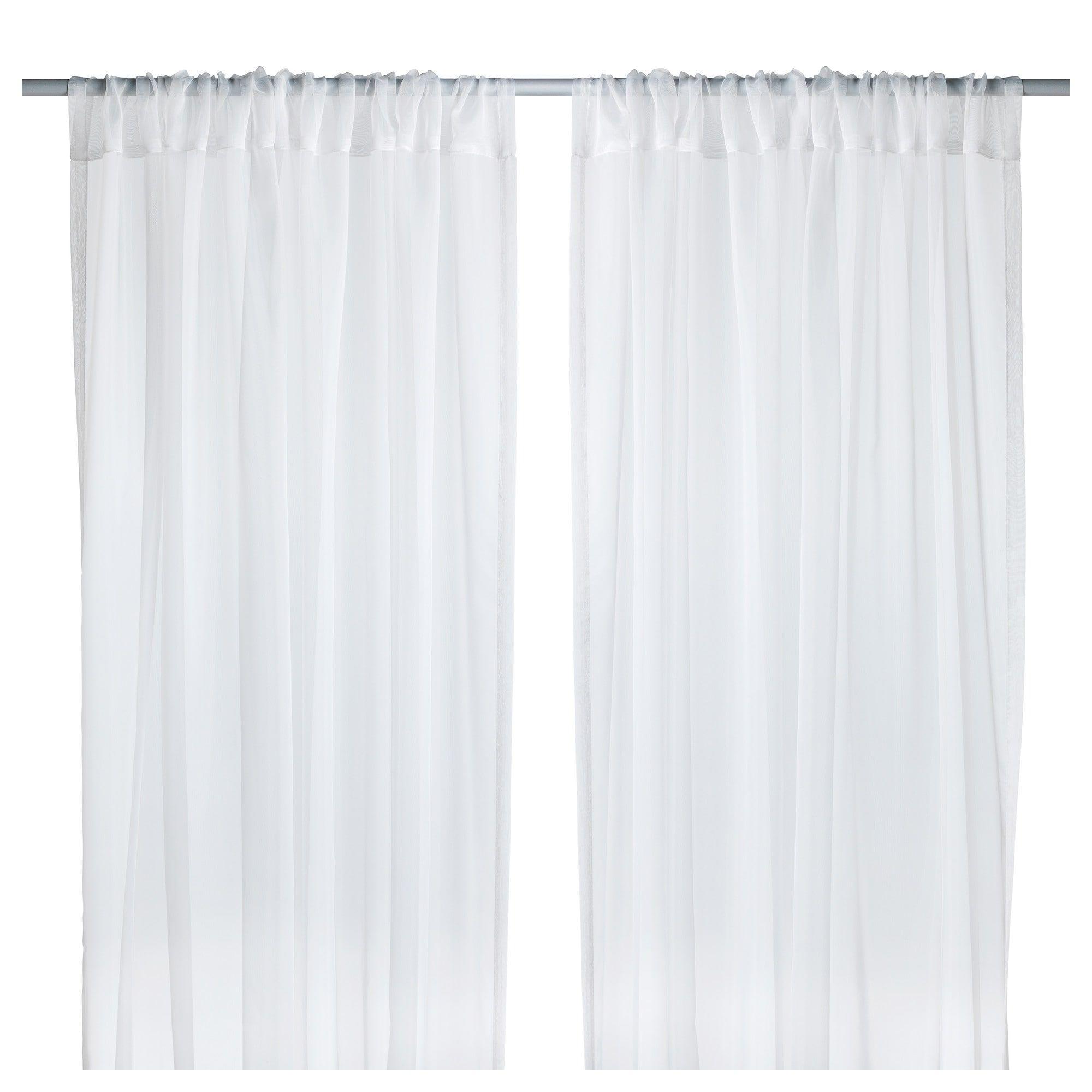 TERESIA Sheer curtains 1 pair white  Wishlist