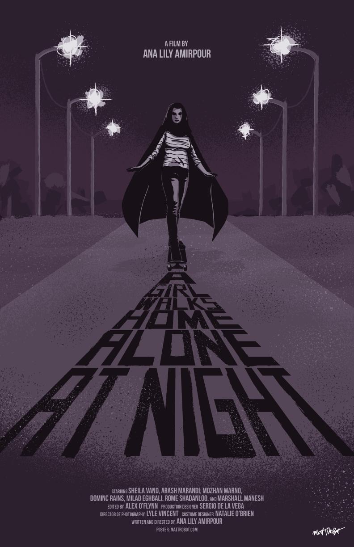 A Girl Walks Home Alone At Night poster by Matt Talbot