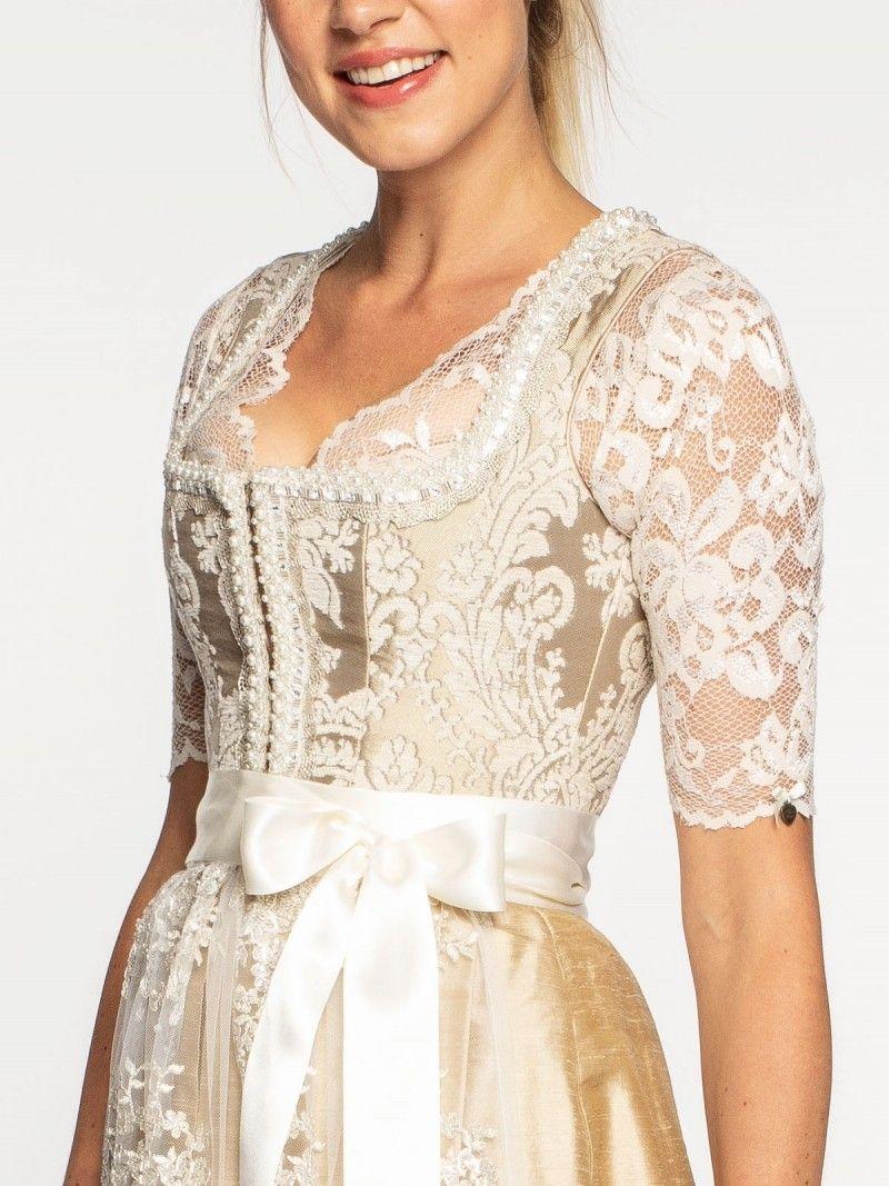 49c83e8cfe652d ALPENHERZ Hochzeits-Dirndl in Creme – VIVIAN | Dirndl | Dirndl ...