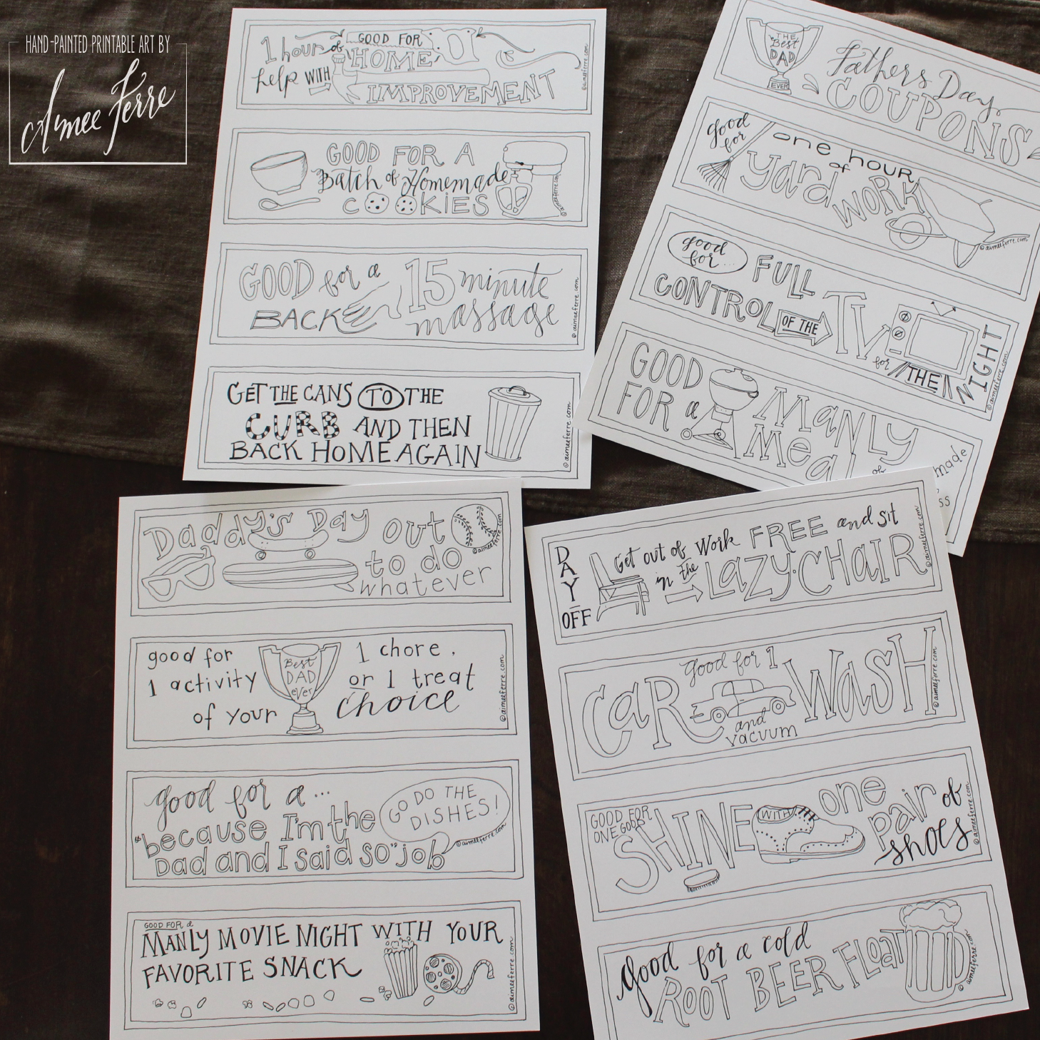 free downloadable coloring pages of coupons for dad  the