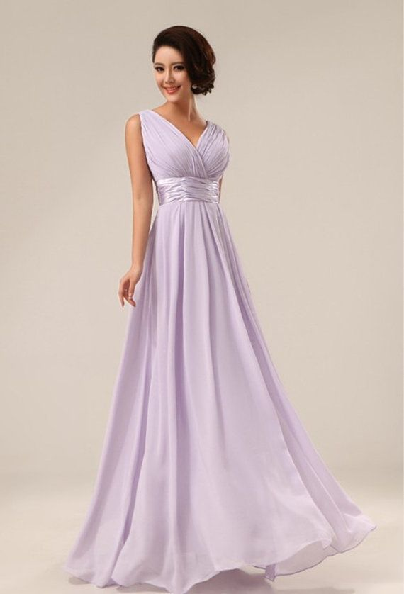 Lavender Formal Wedding Bridesmaid Dress Long Evening Maxi On Etsy 65 00