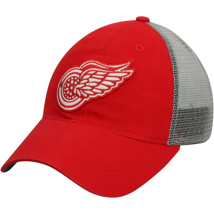 1f507c498c2 Men s Detroit Red Wings adidas Red Culture Washed Slouch Adjustable ...