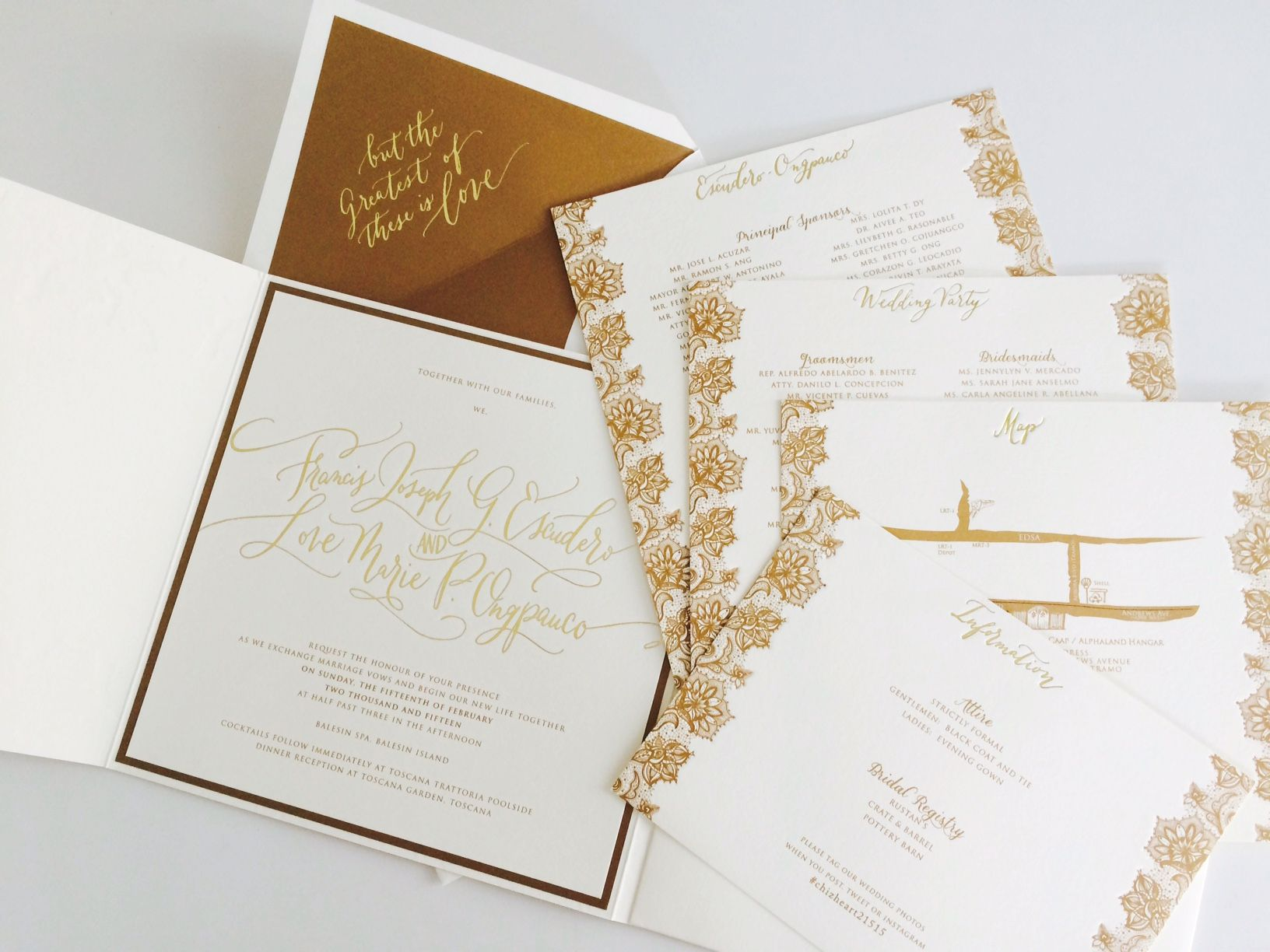 Chiz And Heart Invitation Suite Wedding And Weddings