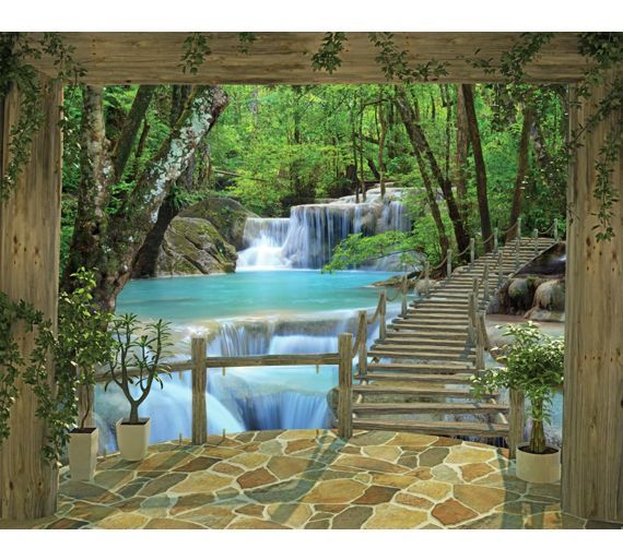 Buy walltastic waterfall wallpaper mural at argos co uk visit argos co uk to shop online for murals and wall stickers wallpaper painting and decorating