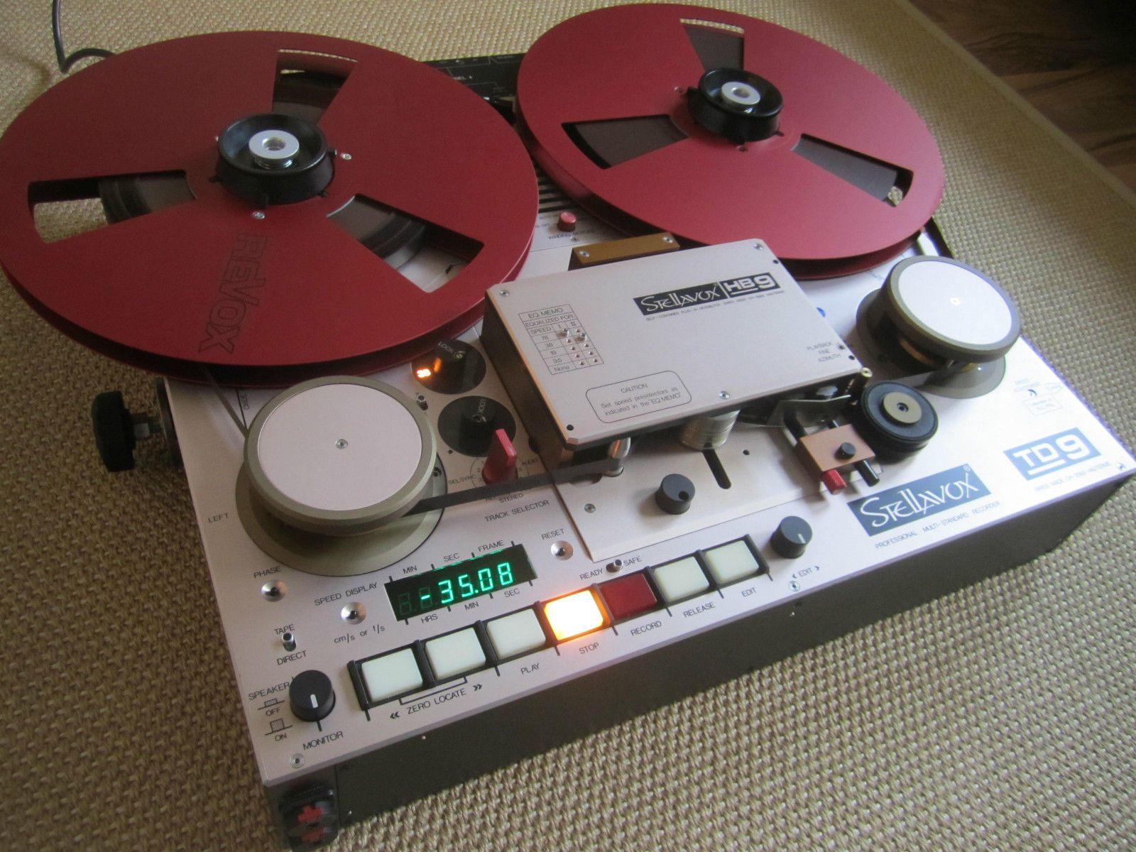 "Extremely Rare Stellavox TD9 Master Recorder 1 2"""