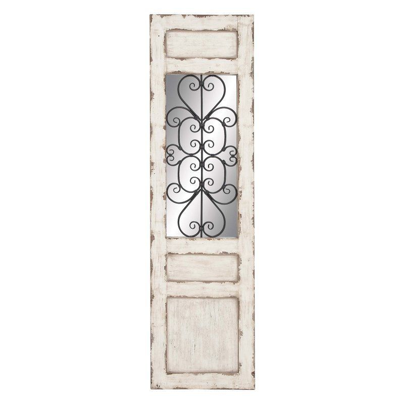 Decmode 72 In Rectangle Wall Mirror 53228 Metal Wall Panel Rustic Doors Wall Paneling